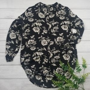 Forever 21 Floral Print Blouse